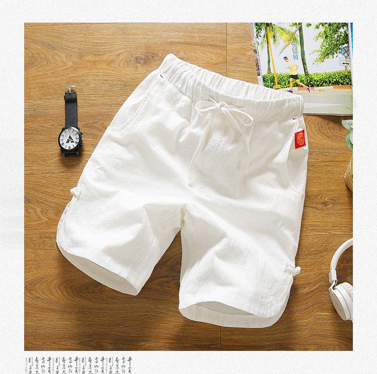 Quần short nam mùa hè Hàn Quốc phiên bản của xu hướng 2018 triều người đàn ông hoang dã của năm quần lỏng thường linen bãi biển nhà quần