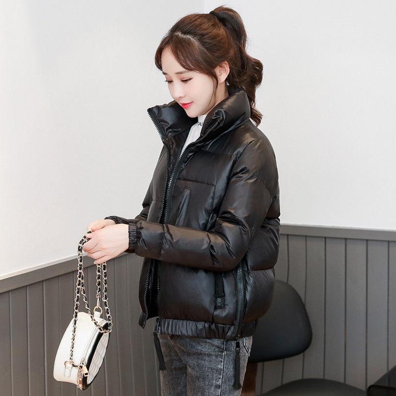 冬季亮面羽绒棉衣女短款新款韩版宽松棉服面包服冬装学生棉袄外套