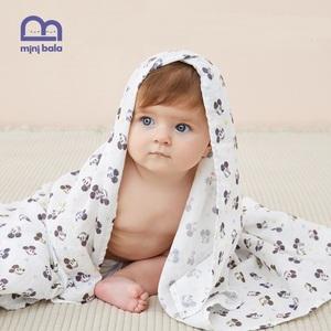 MiniBala纯棉纱布超柔吸水儿童浴巾
