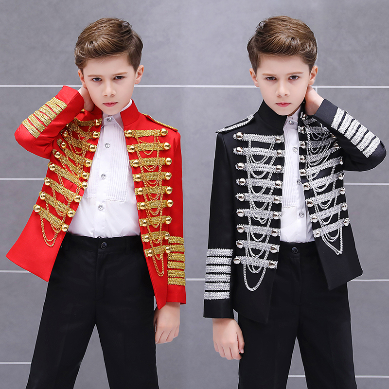 Boys Jazz Dance Costumes   European Style Soviet Army Dresses Stage Dresses Palace Dresses Prince Dresses Children Day Dresses