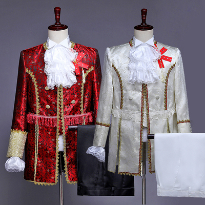 Men's Jazz Dance Costumes Court Dresses Men's Performing Dresses Prince Charming Stage Retro Performance