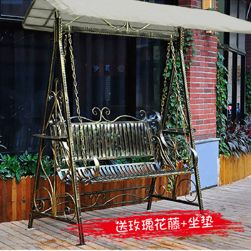 Outdoor Rocking Chair Swing Outdoor Rocking Chair Garden Swing Double  Rocking Chair Balcony Wrought Iron Swing ...