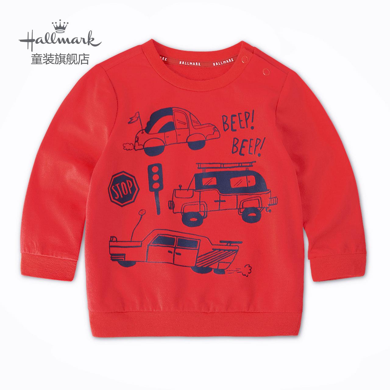 Hallmark贺曼纯棉2020春秋新款童装儿童幼童潮装男童长袖卫衣上衣