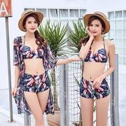 Bộ bikini ba mảnh gợi cảm với áo thép thời trang Hàn Quốc thu nhỏ nước hoa mùa xuân nóng bỏng bán buôn