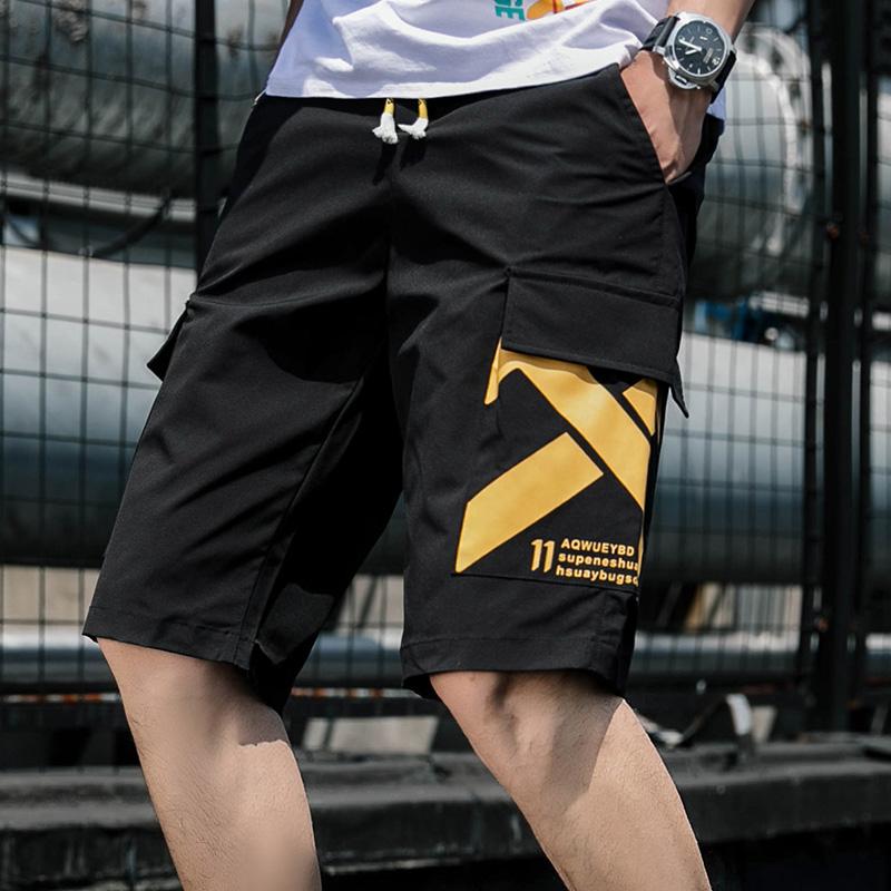 裤子男夏季新款男士工装短裤韩版潮流百搭个性运动五分中裤休闲裤
