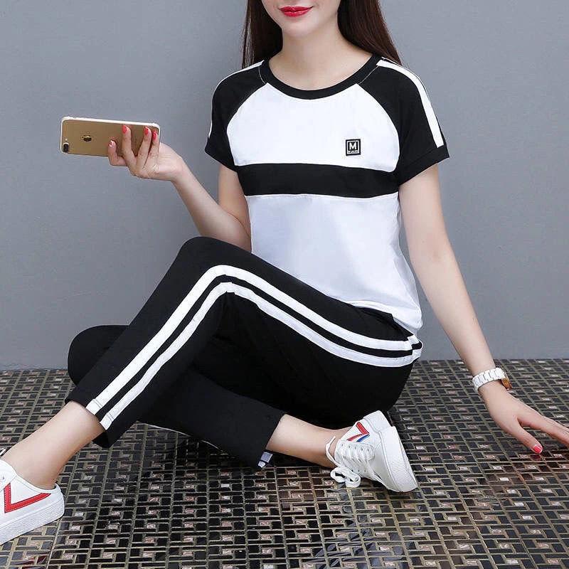 休闲运动套装女2021新款韩版显瘦运动服