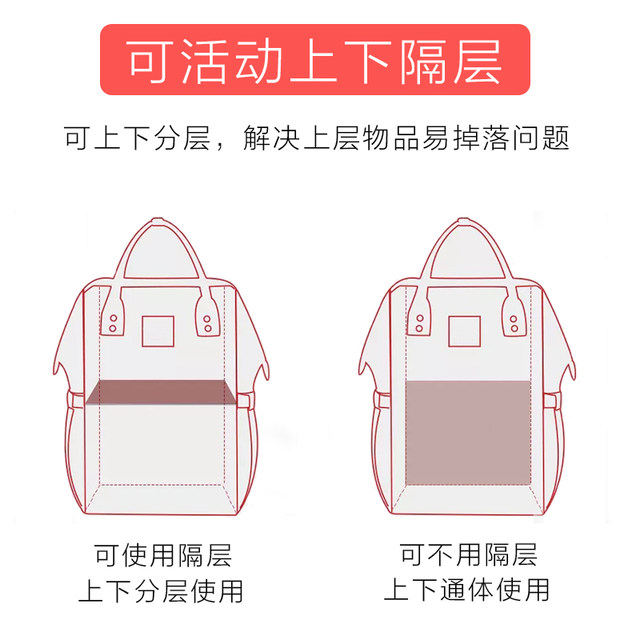 Baoma baby out with large-capacity multi-purpose bag handbag shoulder fashion mother baby backpack out maternal and child package