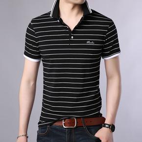 男士短袖t恤v领半截袖上衣白色体恤衫男装