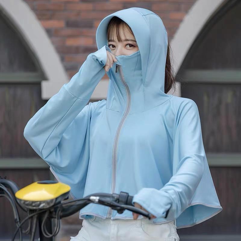 防晒衣女2021新款冰丝防晒服长袖防紫外线透气防晒罩衫薄款外套夏