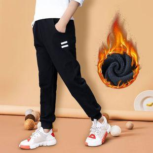 加绒加厚保暖纯棉儿童休闲运动裤长裤