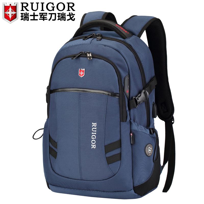 瑞戈瑞士軍士刀瑞戈雙肩包男旅行背包大容量初中學生書包電腦包