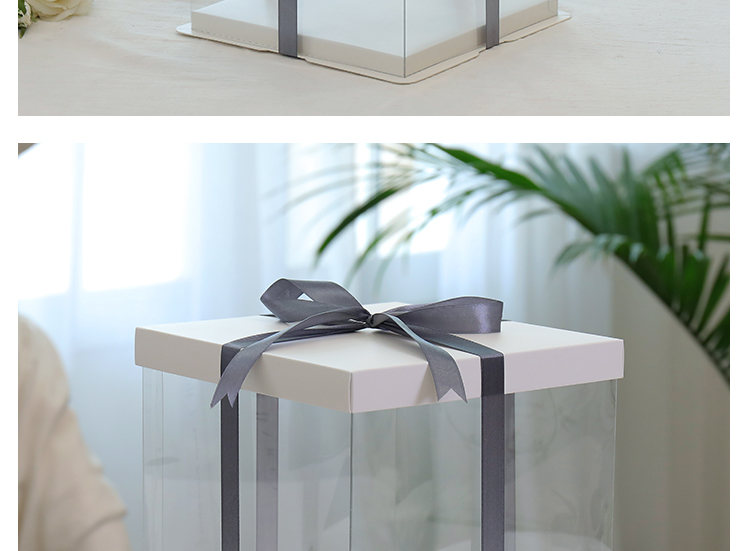 网红透明生日蛋糕盒寸寸寸寸寸寸双层三层加高包装盒子详细照片