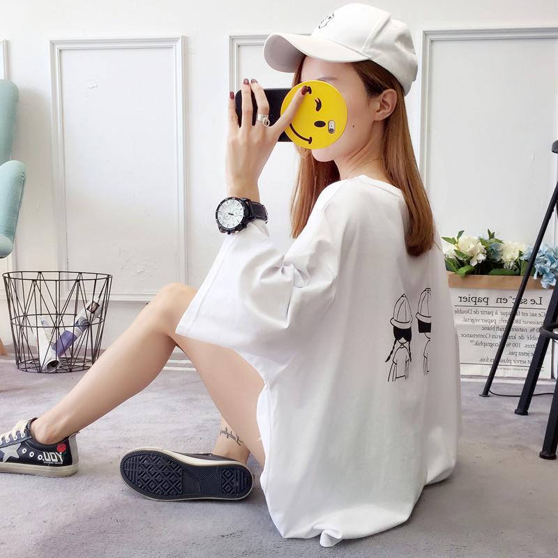 夏季新款短袖潮ins女装服韩版学生半袖宽松闺蜜装原宿风上衣t恤女