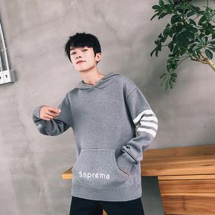 男士新款连帽毛衣外套韩版男士线衣针织衫