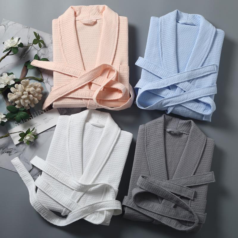 夏季浴袍女长款薄款纯棉吸水浴衣酒店五星级男士女士全棉情侣睡袍