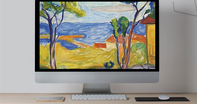蒙克 高清油画图片电子版版画抽象教学临摹喷绘装饰画芯素材插图(14)