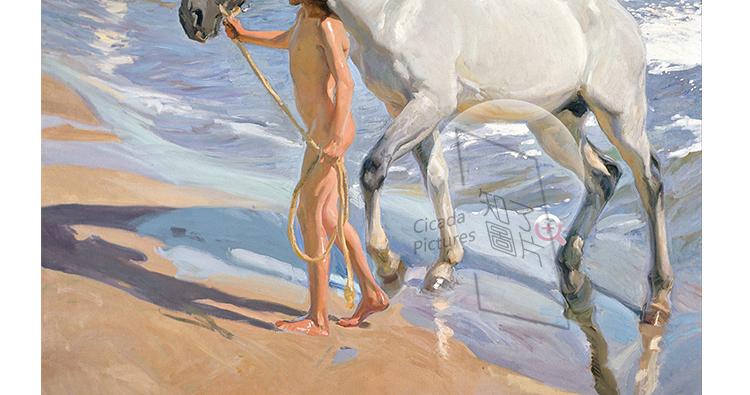 华金.索罗拉油画高清图片电子素材 印象派喷绘印刷美术教学临摹插图(10)