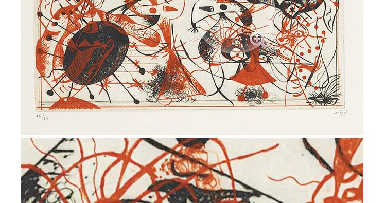 米罗 油画高清图片抽象几何装饰画画芯喷绘打印教学临摹作品集插图(9)
