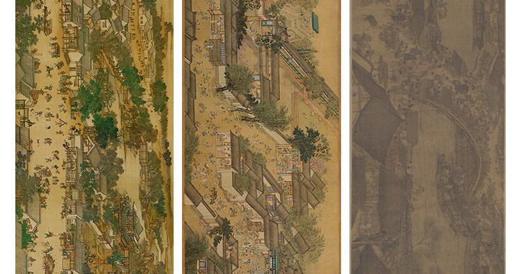 张择端国画高清图片电子版素材清明上河图装饰画教学临摹设计素材插图(14)