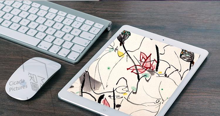 吴冠中 油画国画高清电子版 水墨画临摹装饰画喷绘装饰素材插图(20)