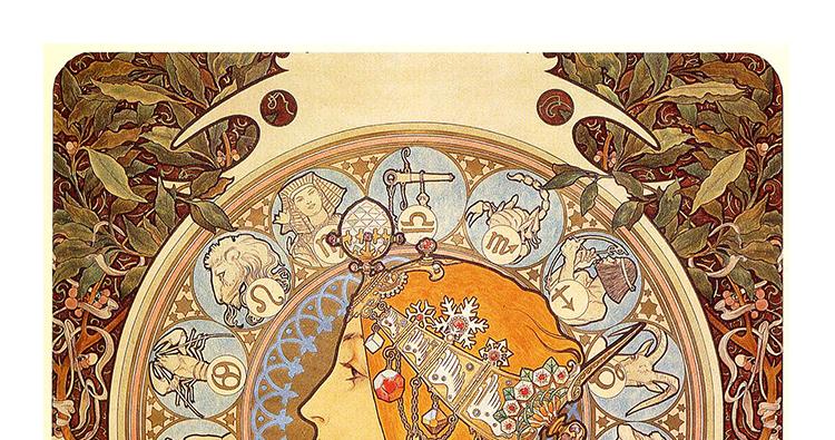 穆夏油画高清图片电子版素材教学临摹喷绘打印装饰画芯插图(8)