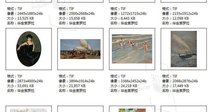 华金.索罗拉油画高清图片电子素材 印象派喷绘印刷美术教学临摹插图(28)