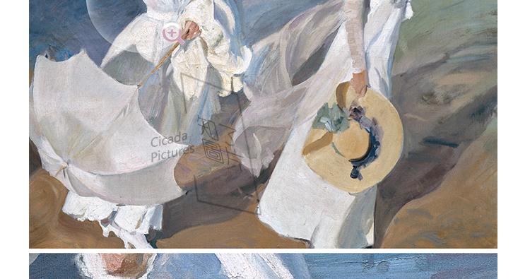 华金.索罗拉油画高清图片电子素材 印象派喷绘印刷美术教学临摹插图(8)