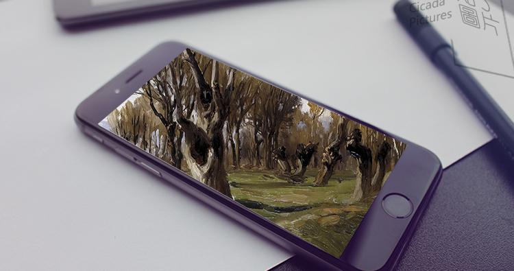 卡洛斯.德贺斯 油画高清图片风景临摹素材喷绘打印装饰画画芯插图(19)