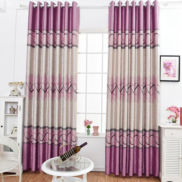 柯桥新款印花黑丝窗帘卧室客厅遮光提花布艺窗帘布可零剪