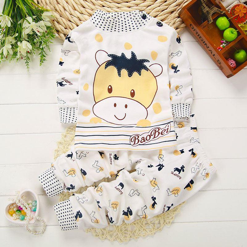 儿童内衣套装宝宝秋衣秋裤纯棉男女童睡衣长袖0-1岁3婴儿保暖内衣