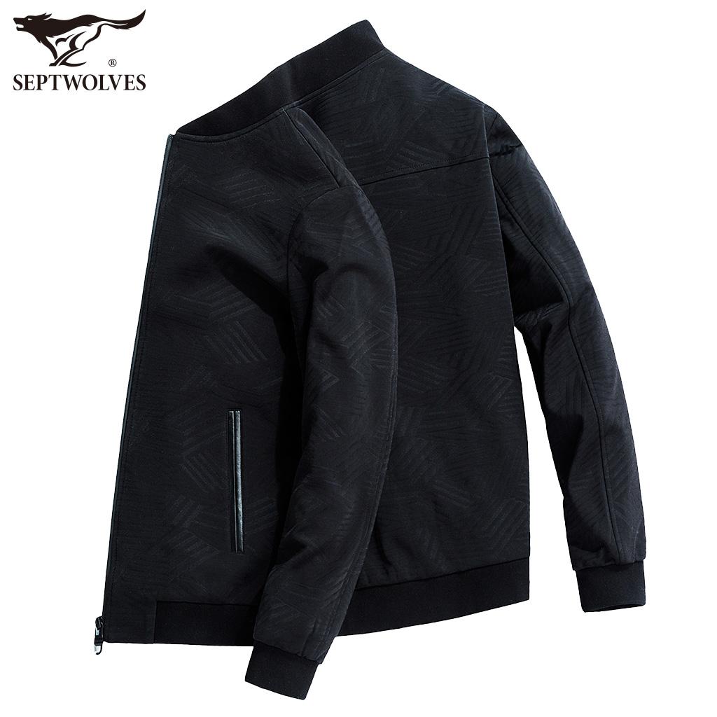 七匹狼夹克衫男士外套2018春季新款中年百搭休闲薄款男装男式外衣