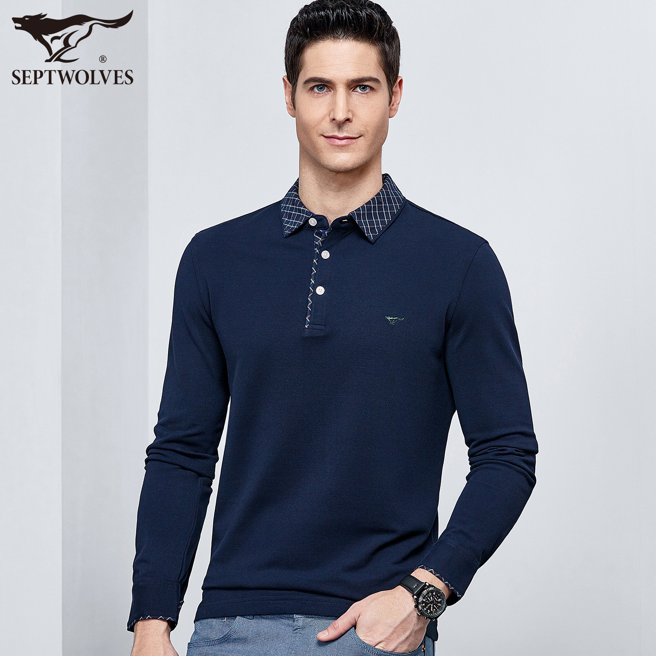 Usd 12796 Septwolves Mens Long Sleeved T Shirt Autumn New Youth