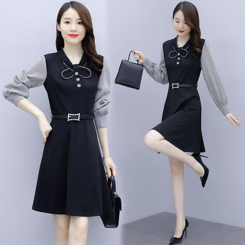 春秋连衣裙新款女装韩版显瘦长袖气质裙子