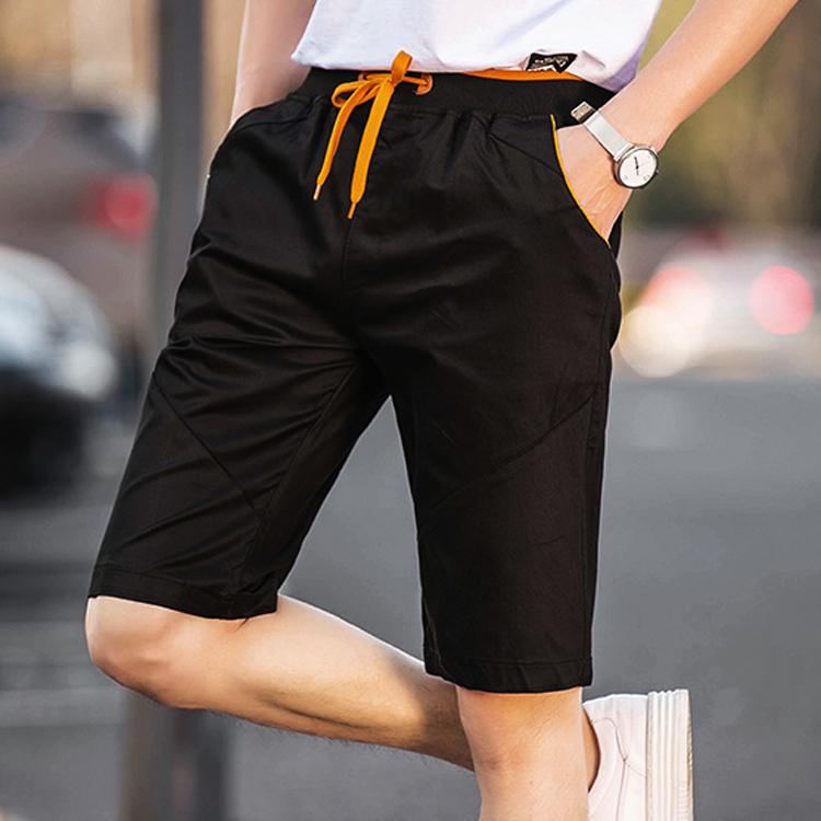 夏季纯棉五分裤男士短裤男休闲裤修身运动裤韩版沙滩裤百搭中裤