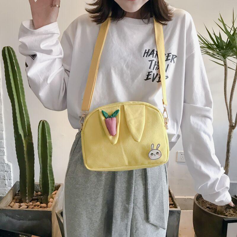 日系卡通少女可爱呆萌兔耳朵小包包