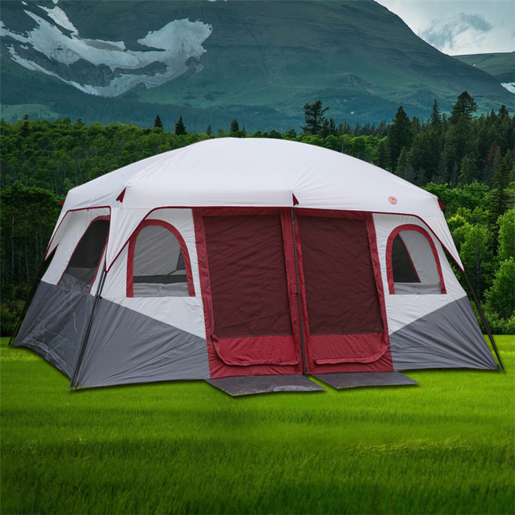 New two-room one-room tent outdoor c&ing 6 people 8 people 10 people 12 people two-room one-room large tent & USD 394.91] New two-room one-room tent outdoor camping 6 people 8 ...