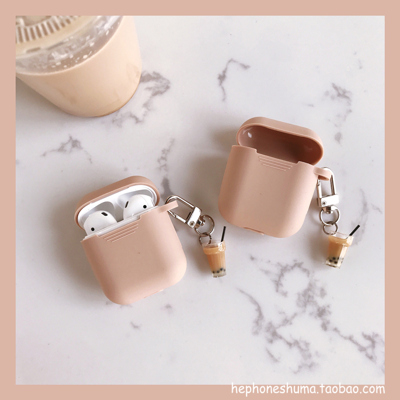 milk tea pendant airpods protective cover bluetooth wireless headset set creative personality female..