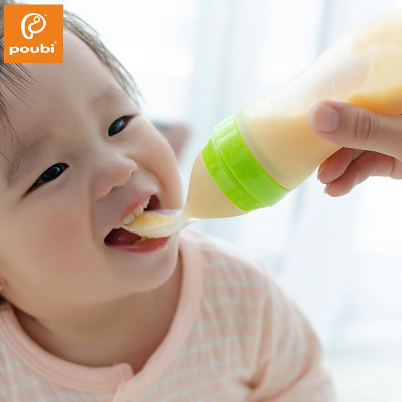 Bà mẹ và trẻ em cung cấp chai gạo dán cho bé ăn thìa bé đào tạo phụ trợ chai bóp đầu mềm - Cup / Table ware / mài / Phụ kiện