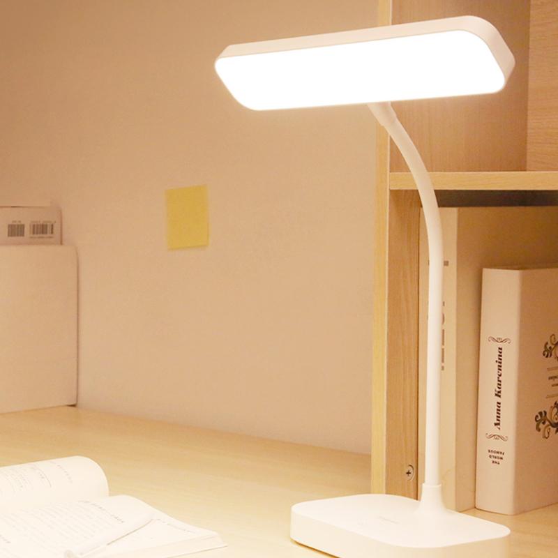 雅格台灯学习专用学生宿舍护眼灯书桌防近视家用小充电阅读床头灯