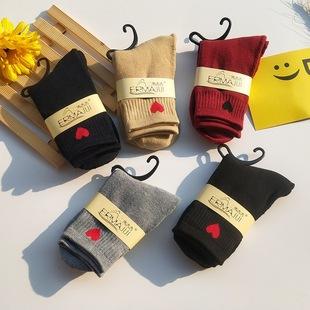 5双韩版秋冬季毛圈袜加厚保暖袜子