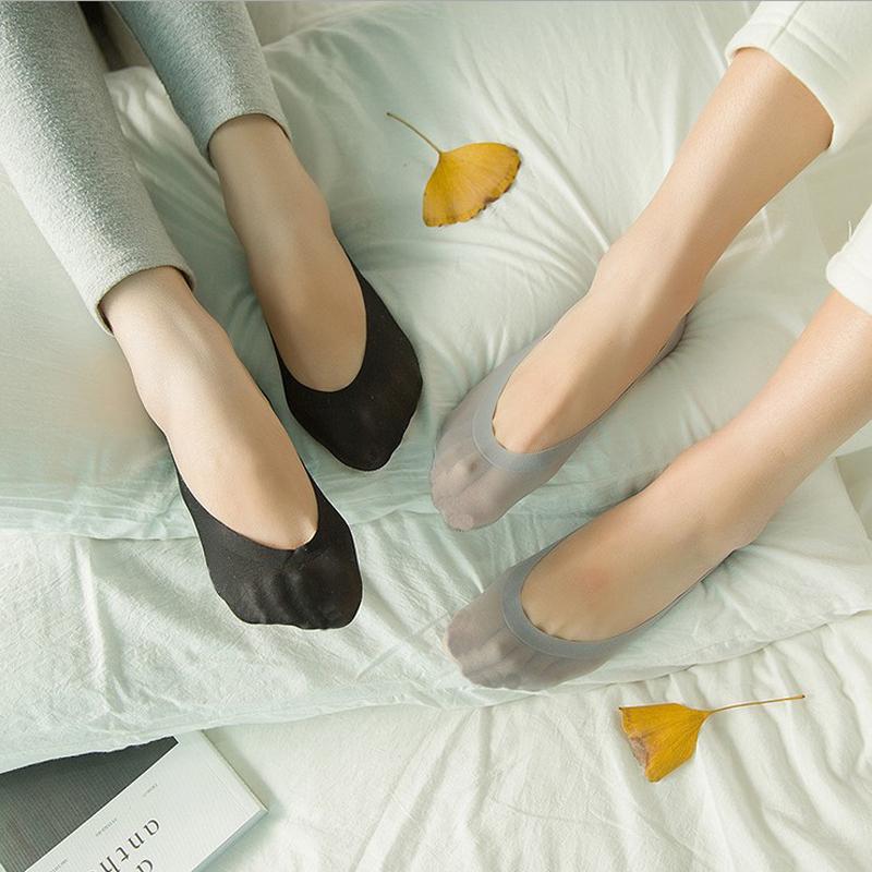 5双韩版隐形船袜子女防滑硅胶夏季超薄单鞋浅口低帮运动糖果色