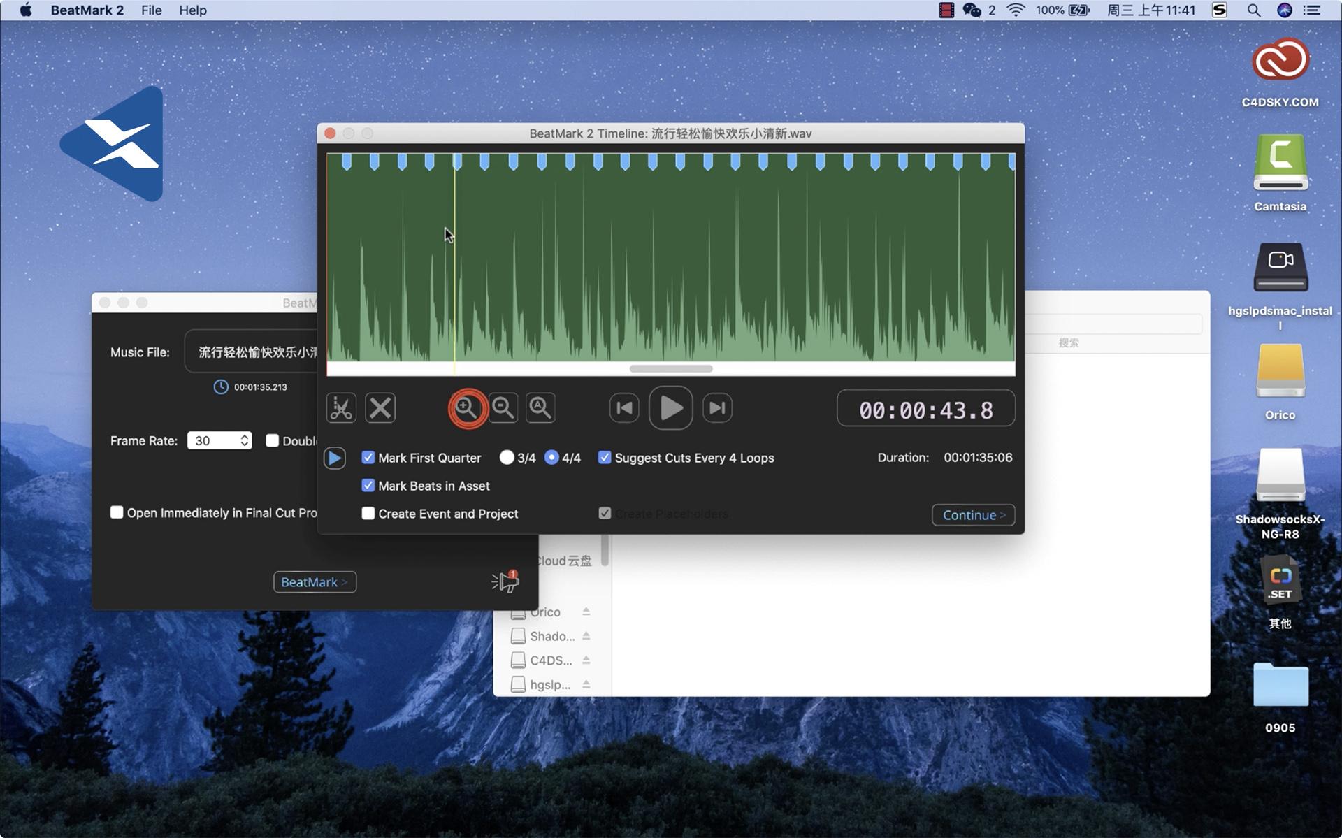 如何正确使用FCPX插件-音频节拍卡视频教程  自动标记工具