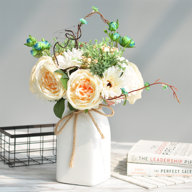 Ins Home Decorations Nordic Dried Flowers Simulation Vase Flower Art