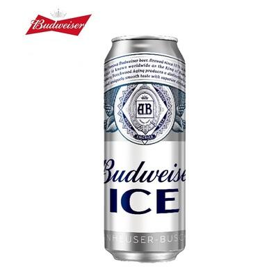 A百威啤酒Budweiser/500ml*18 听清爽醇正口感大罐装整箱啤酒