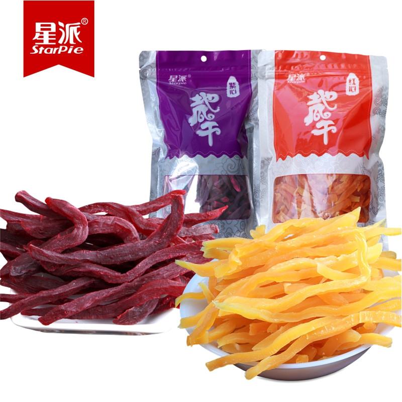 星派农家地瓜干 红薯干紫薯条农家自制工艺零食连城纯番薯山芋干