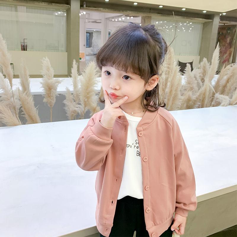 2020新款韩版时尚夹克上衣女童外套