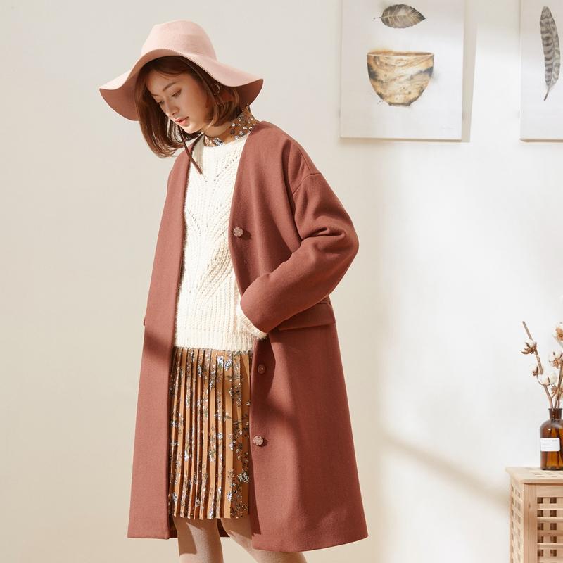 美特斯邦威时尚气质大衣夹克
