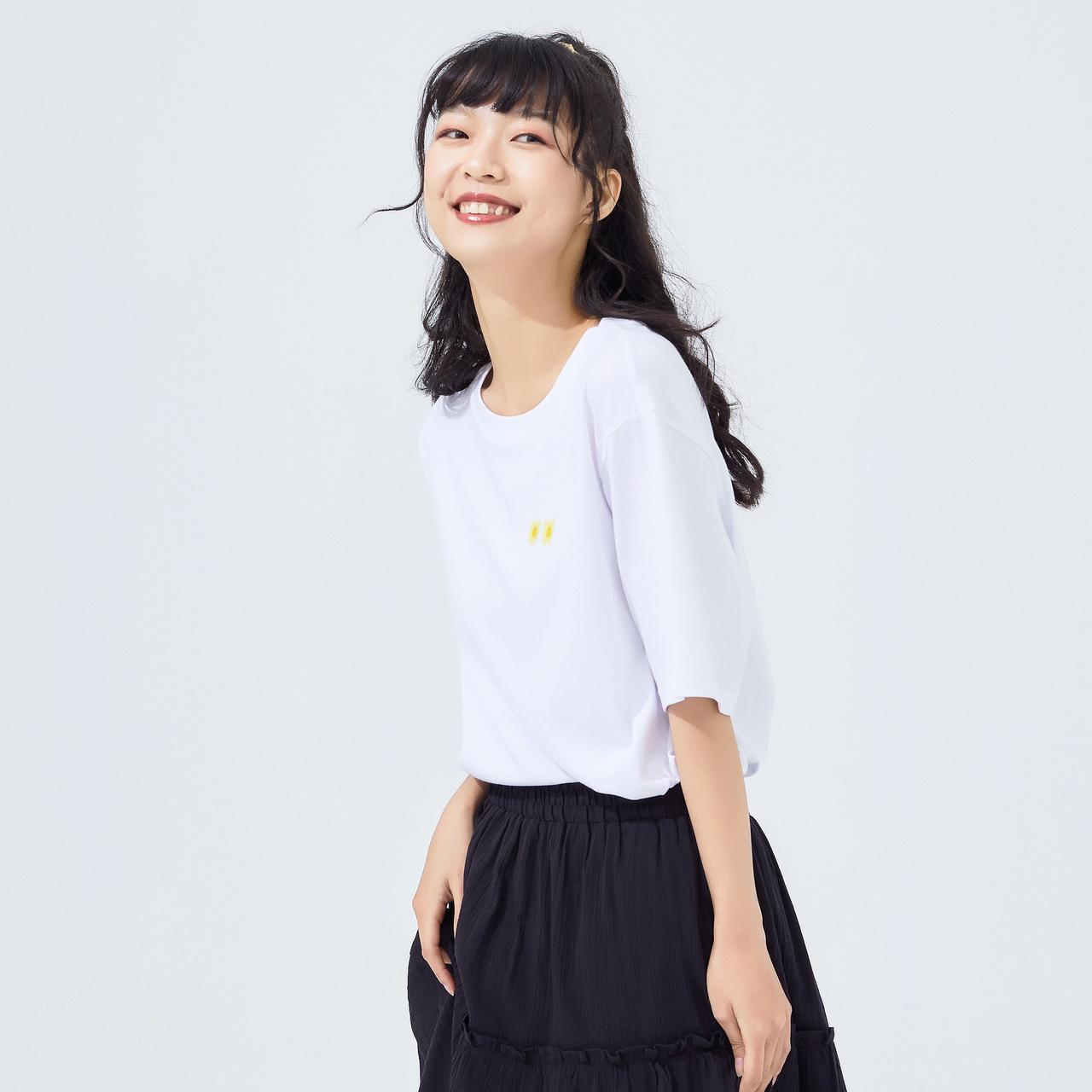 美特斯邦威短袖T恤女宽松半袖2020新款秋季印花上衣女
