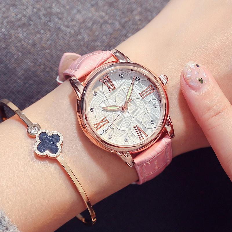 韩版简约防水钻夜光大方女生手表
