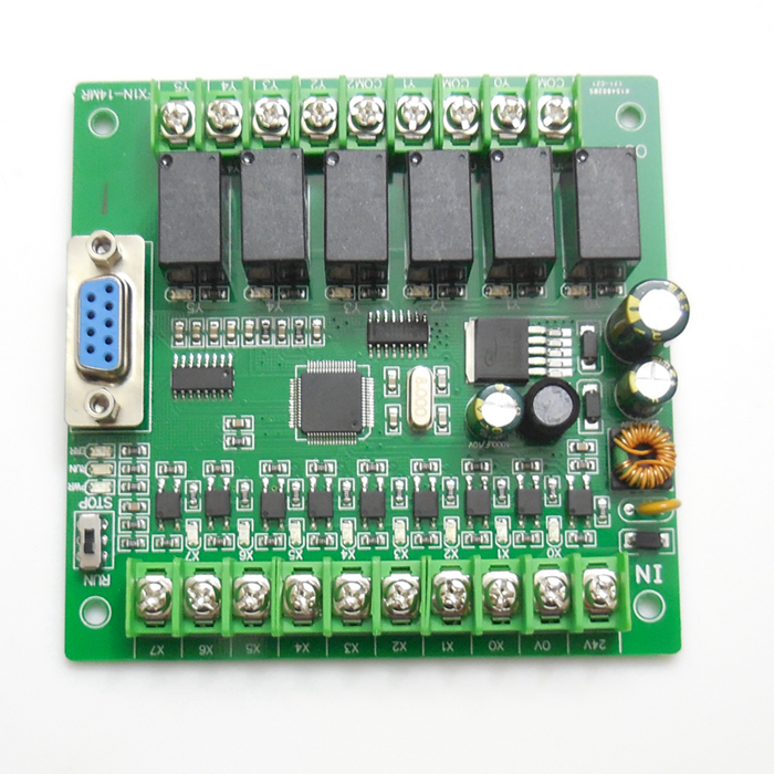 PLC industrial control board simple FX1N-14MT plate type PLC programmable contro